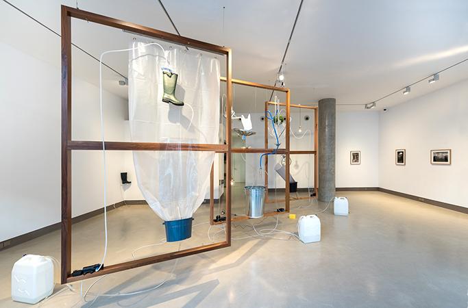 Installation view of Yuko Mohri, Moré Moré [Leaky] (9 February – 11 March 2017)