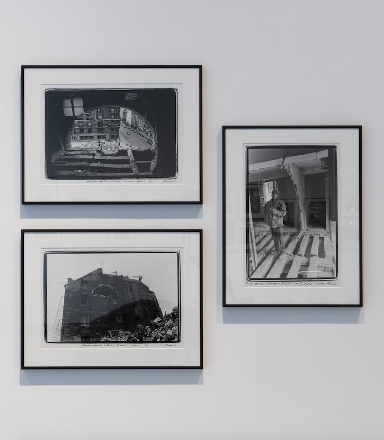 Shigeo Anzaï, Gordon Matta-Clark, 1975 Paris Biennial, Installation View.