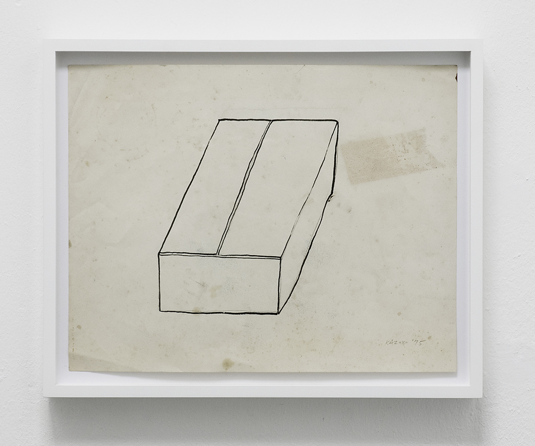 Kazuko Miyamoto, 'Box', 1975 Pencil and sumi ink on paper, 27.2 x 34.8 cm Image courtesy EXILE, Berlin
