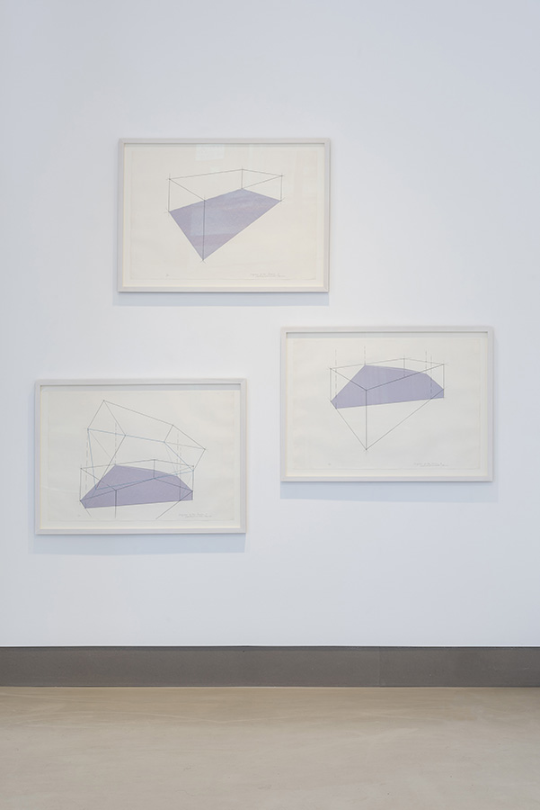 Lydia Okumura, 'Diagram of the Reason, A, B, C', 1980 Silk screen on paper, 56 x 76 cm (each) Image: Damian Griffiths