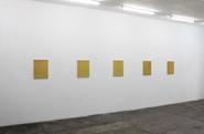 Futo Akiyoshi Installation shot of From a Quiet Distance at PARKHAUS im Malkastenpark, Düsseldorf, 2014