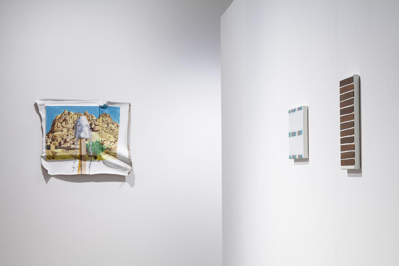 L-R: Masaya Chiba and Yui Yaegashi Installation shot of , 2015 Courtesy of the artists, ShugoArts, Misako&Rosen and White Rainbow Photo: Tom de Gay