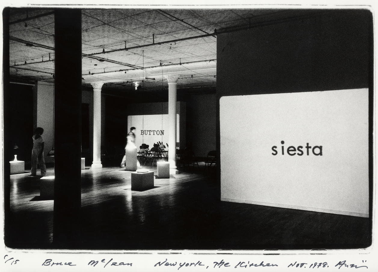 Shigeo Anzaï, Bruce McLean Performance at The Kitchen, New York, 1978