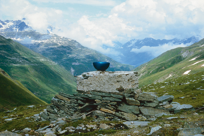 Kazuo Katase Drink a Cup of Tea, 1987 Furkart, Furka Pass, Switzerland Courtesy the artist and White Rainbow, London