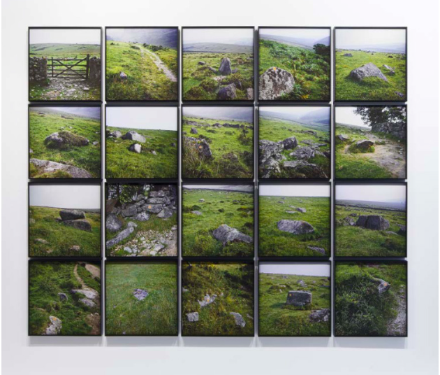 Nancy Holt, Trail Markers, 1969 20 Inkjet prints on archival paper, printed from original 126 format transparencies, printed 2012. 55.9 x 55.9 cm each