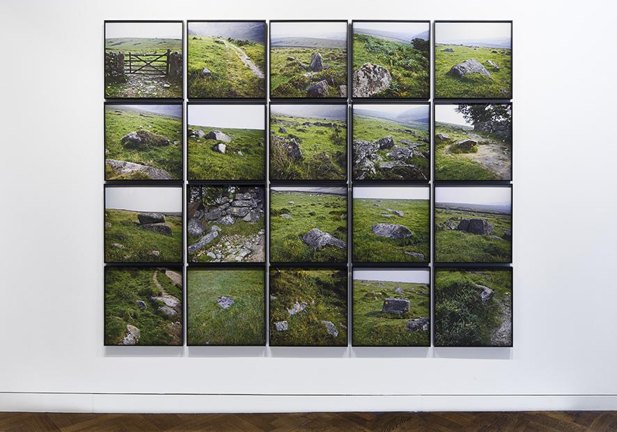 Nancy Holt, Trail Markers, 1969, 20 inkjet prints on archival rag paper.  55.9 x 55.9cm each.
