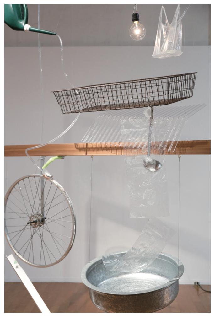 Yuko MOHRI Moré Moré (Leaky): The Falling Water Given #1-3,  Nissan Art Award 2015 Photo: Keizo Kioku