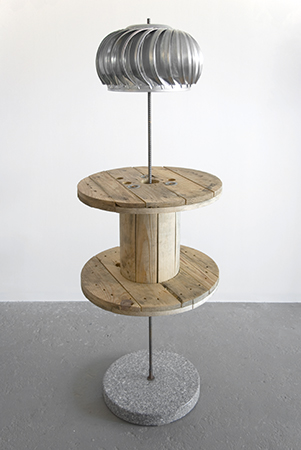 Turbine 2016 Stone, wood, steel 66 x 24 x 24 inches Image courtesy of the artist and JTT New York