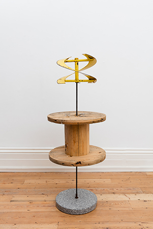 Auger 2016 Stone, steel, rubber 80 x 24 x 24 inches Image courtesy of the artist and JTT New York