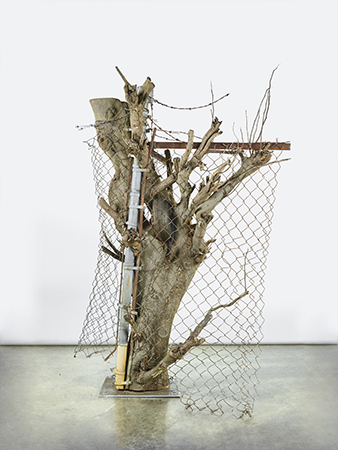 Tree 2016 Wood and steel 60 x 50 x 36 inches Image courtesy of the artist and JTT New York