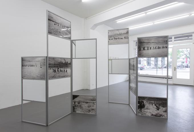 Buoyancy, 2014. Aluminium, silkscreen prints, pigment prints, plexiglas, mirrors, 300 x 230 x 50 cm